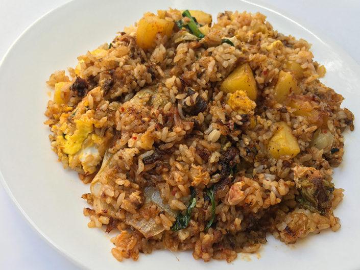 $11 Pineapple Pork Fried Rice Plate